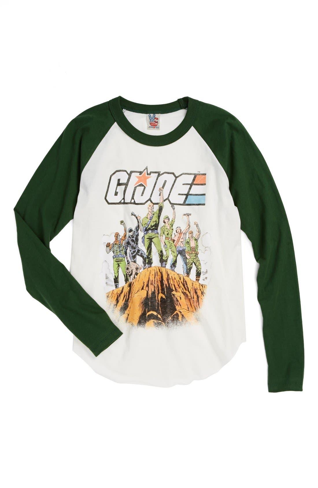 Alternate Image 1 Selected - Junk Food 'G.I. Joe' Baseball T-Shirt (Toddler Boys, Little Boys & Big Boys)
