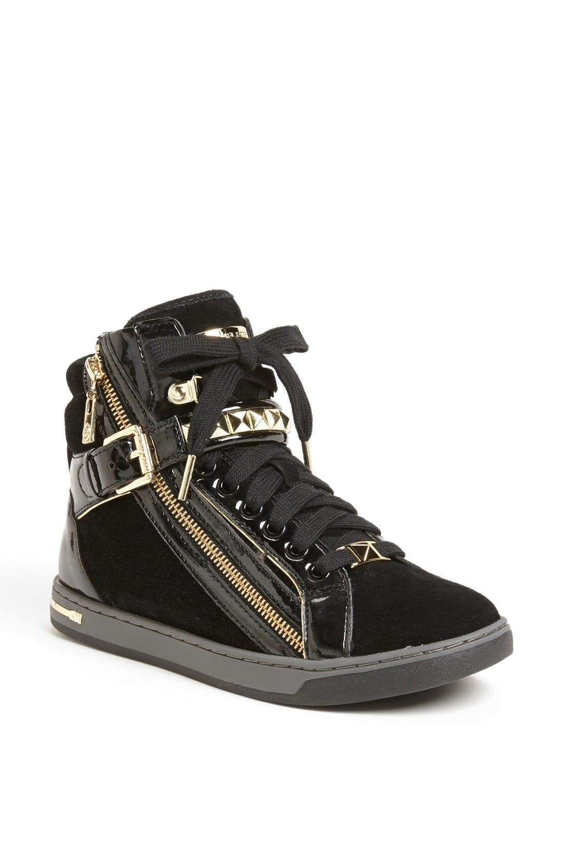 Main Image - MICHAEL Michael Kors 'Glam' Studded High Top Sneaker