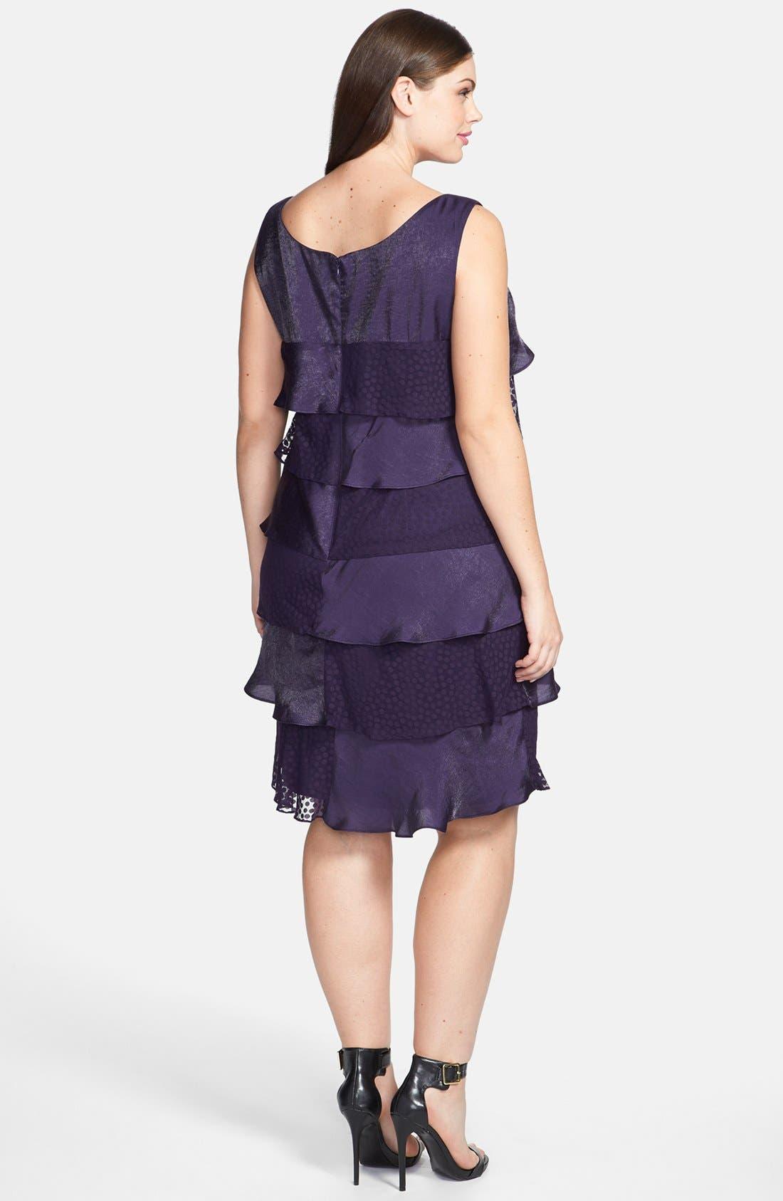 Alternate Image 2  - London Times Tiered Ruffle Dress