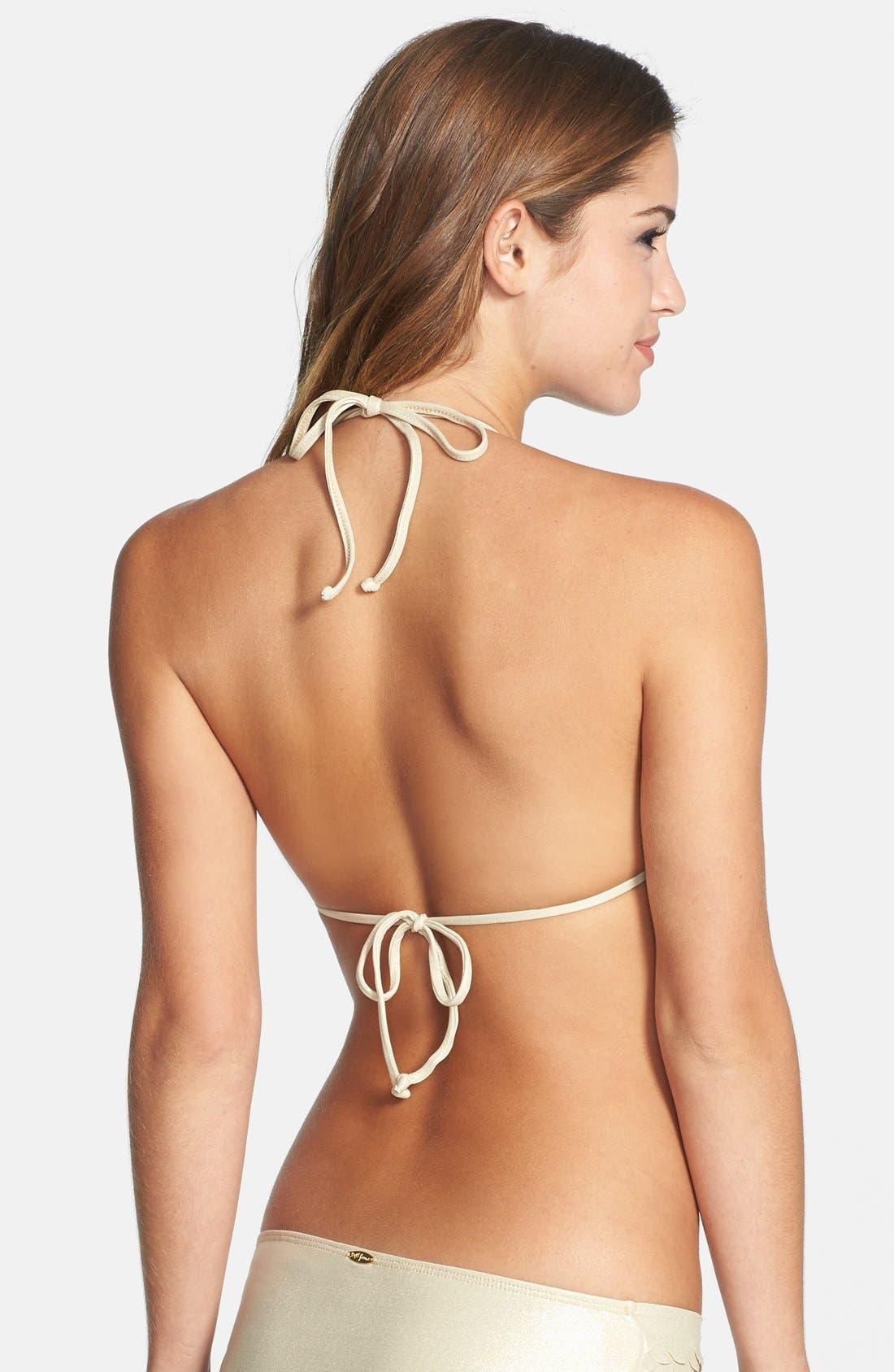 Alternate Image 2  - Luli Fama 'Si Soy Sirena' Triangle Bikini Top