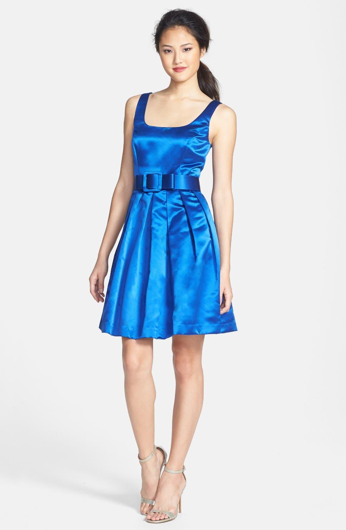 Main Image - Donna Morgan Bow Belt Party Dress