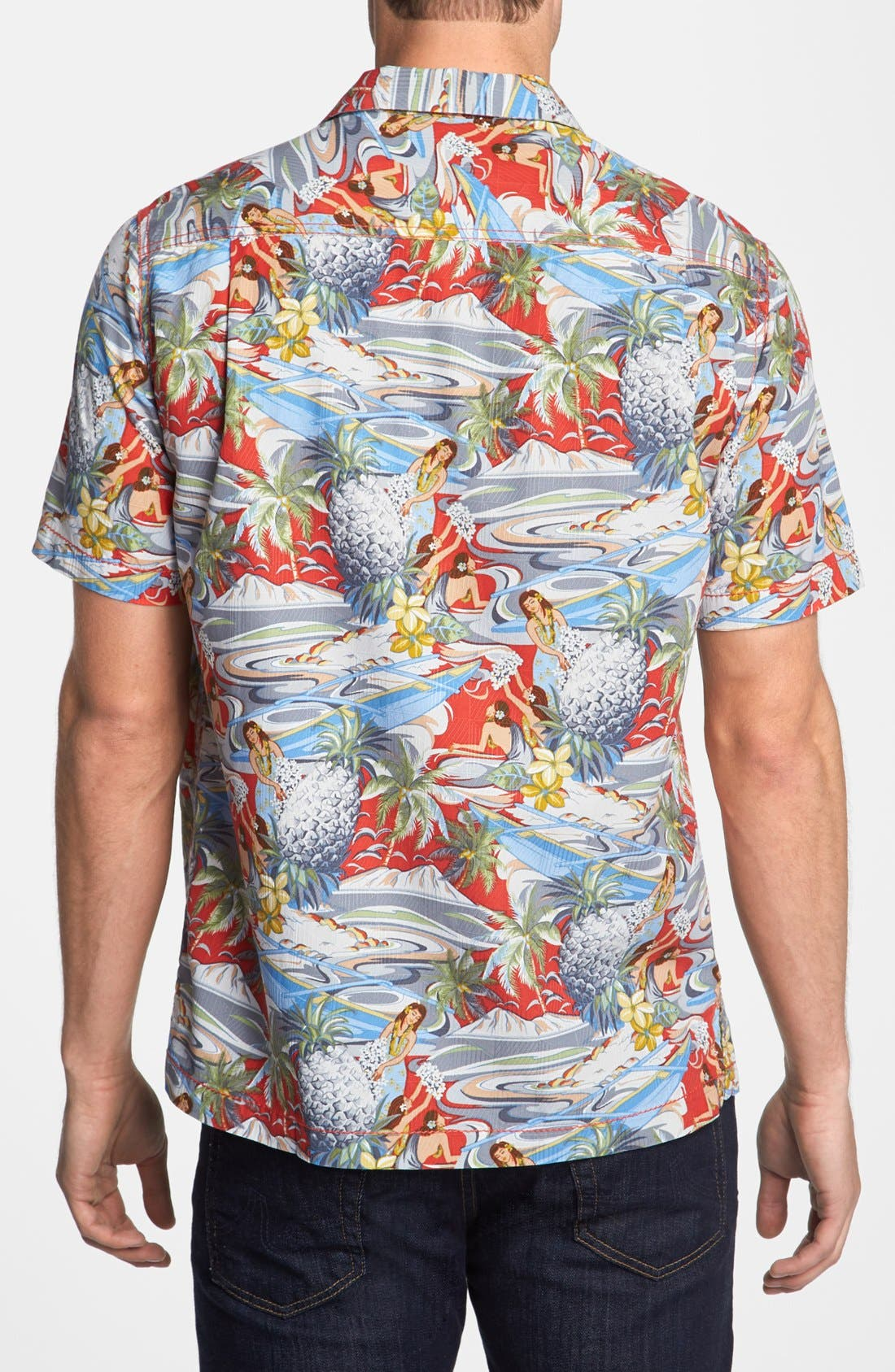 Alternate Image 2  - Tommy Bahama 'Moroccan Me Crazy' Silk & Cotton Campshirt
