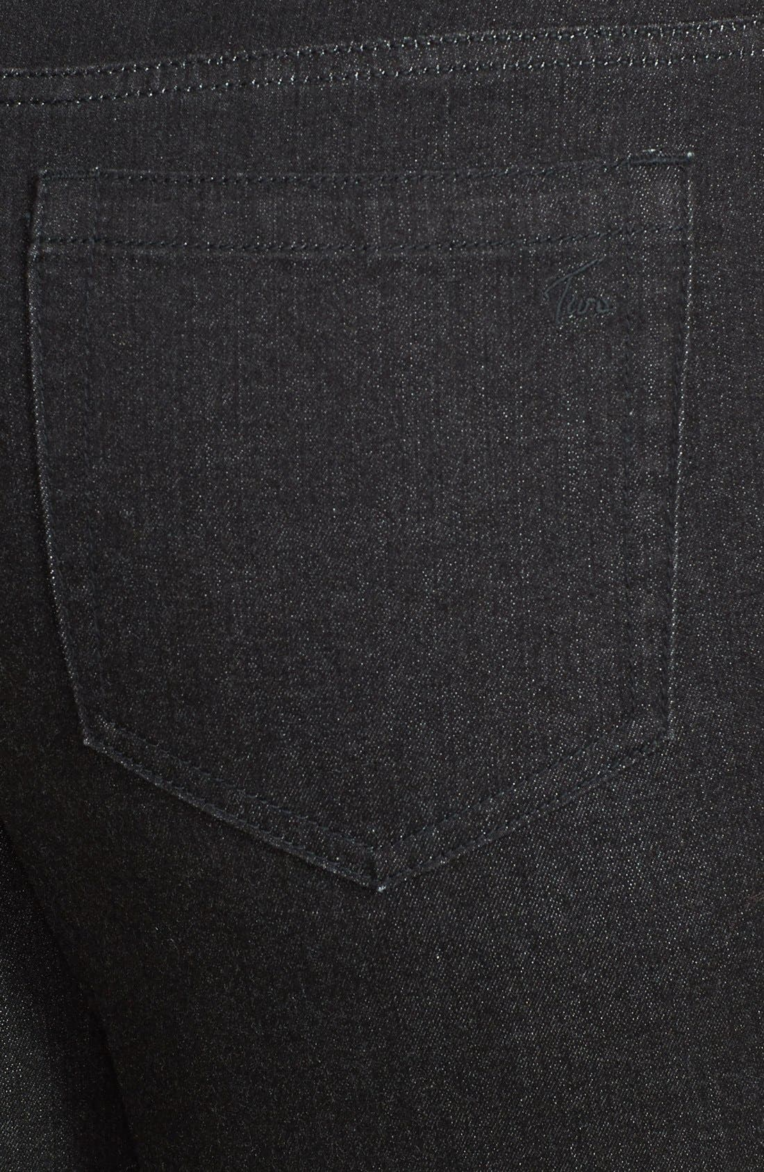 Alternate Image 3  - Two by Vince Camuto Skinny Jeans (Black Denim) (Plus Size)