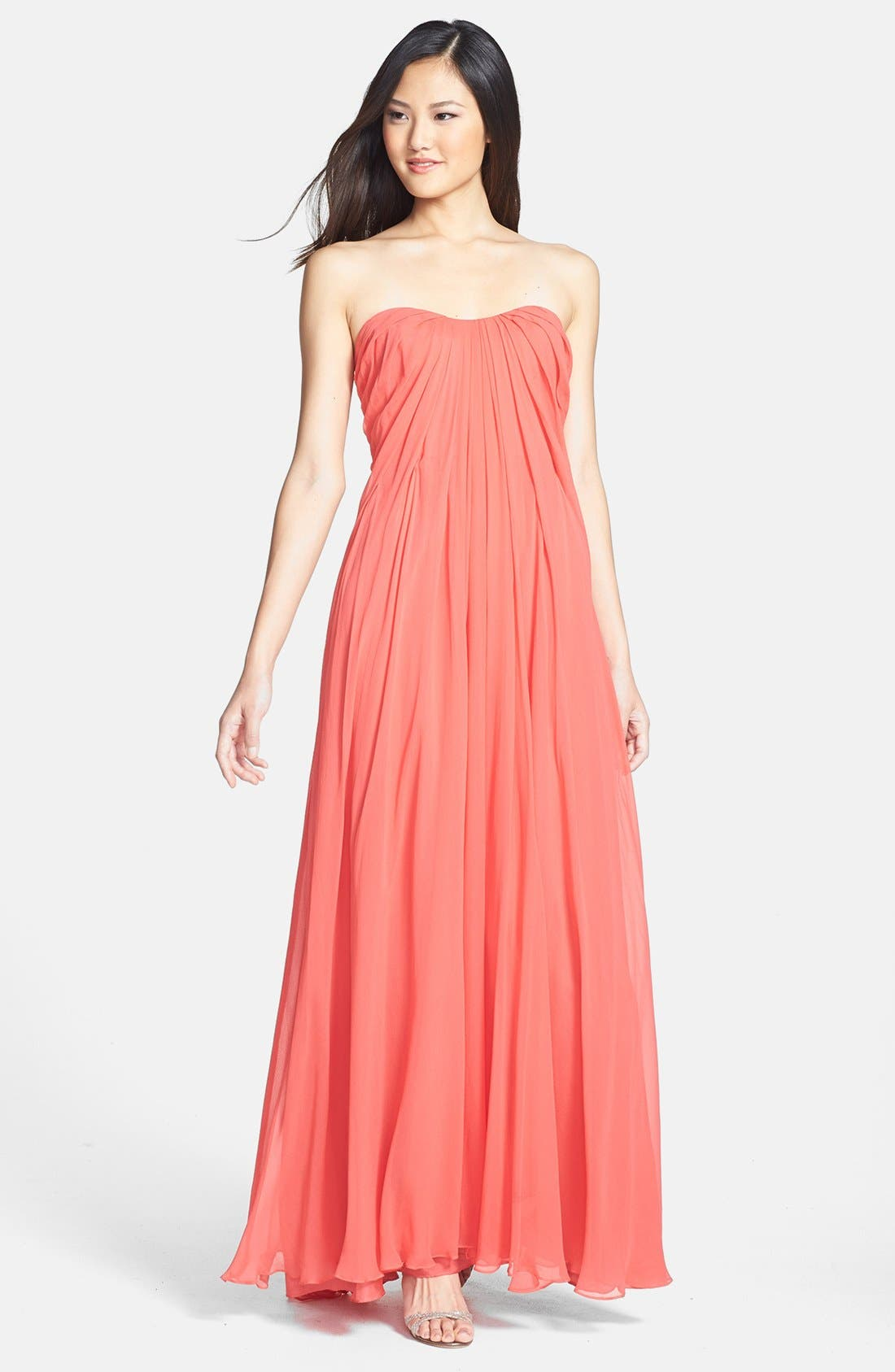 Alternate Image 1 Selected - Jill Jill Stuart Pleat Chiffon Gown