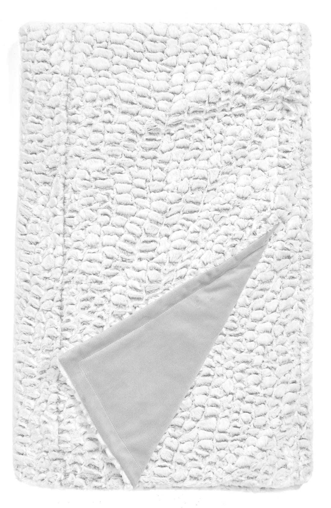 Alternate Image 1 Selected - Nordstrom at Home 'Frosted Petal' Plush Blanket