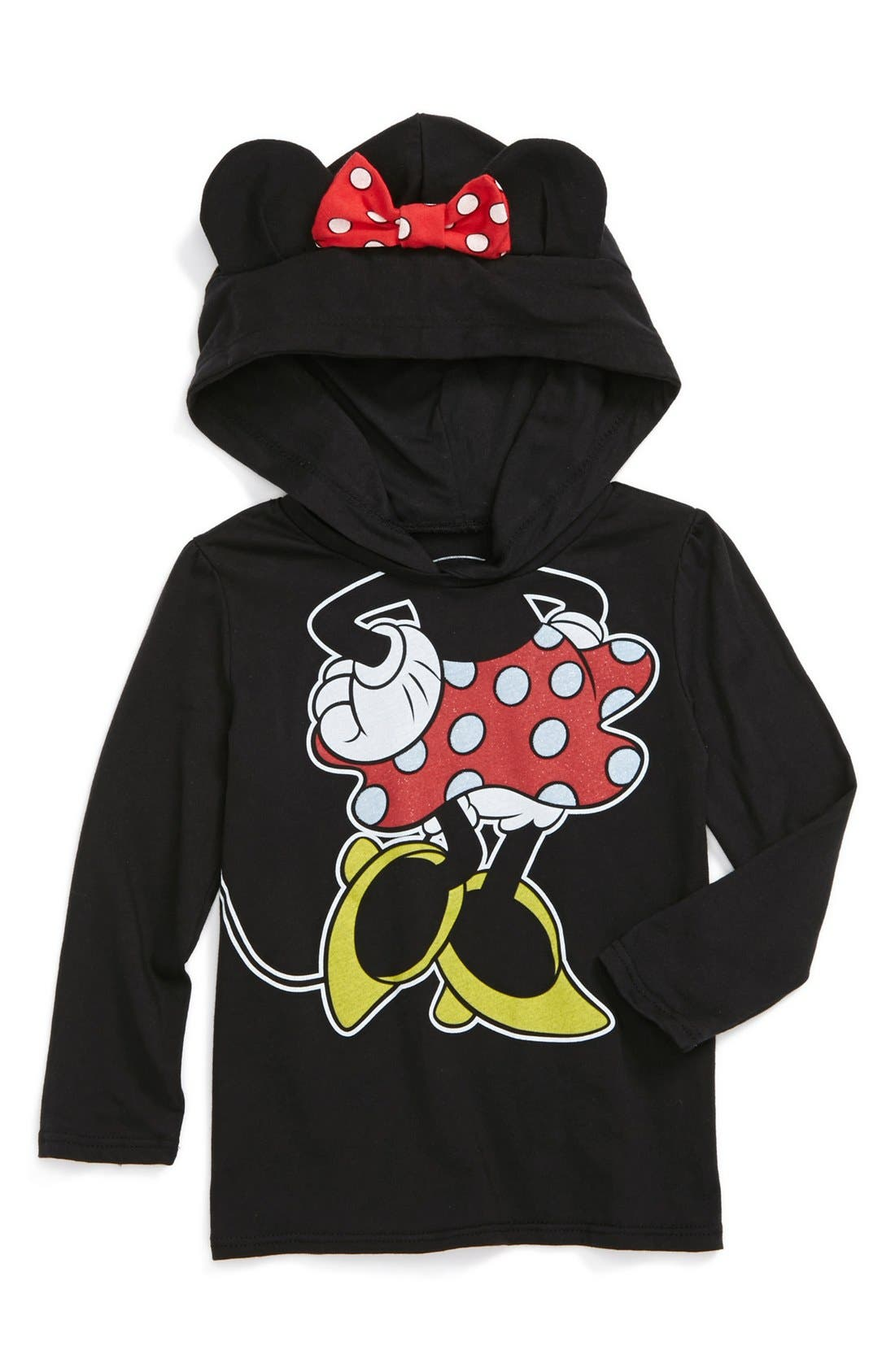 Main Image - Mighty Fine 'Minnie Ears' Hoodie (Toddler Girls)