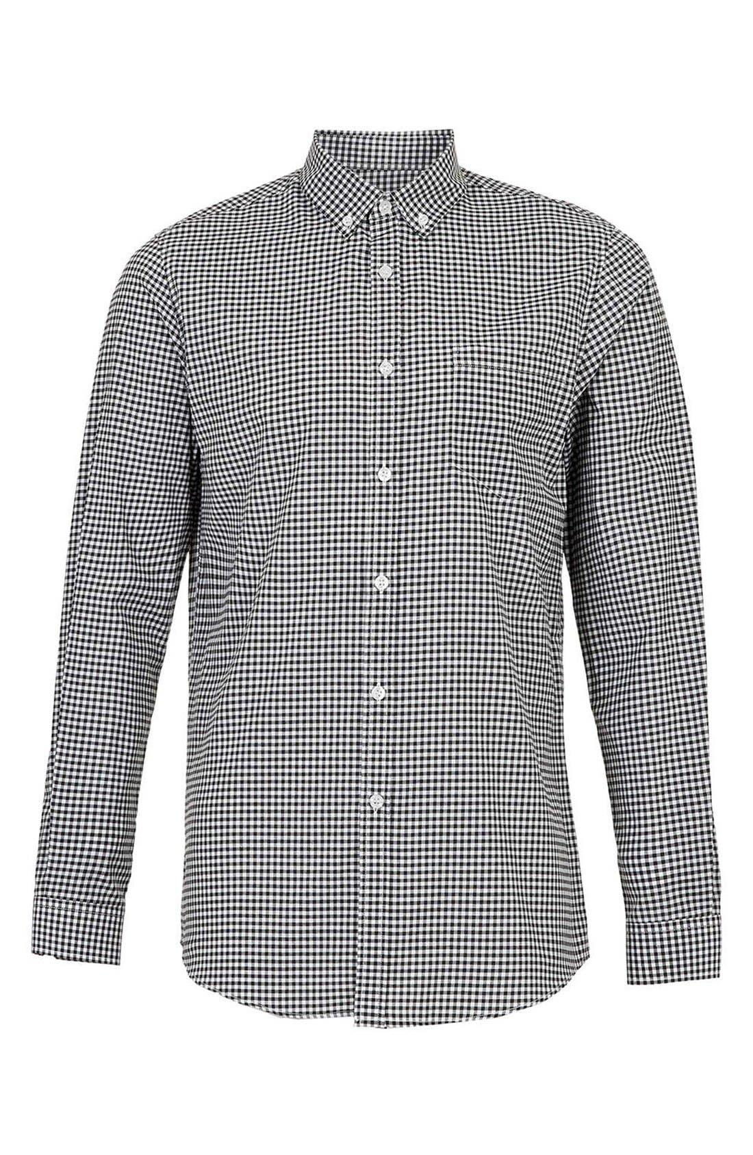 Alternate Image 1 Selected - Topman Slim Fit Gingham Shirt