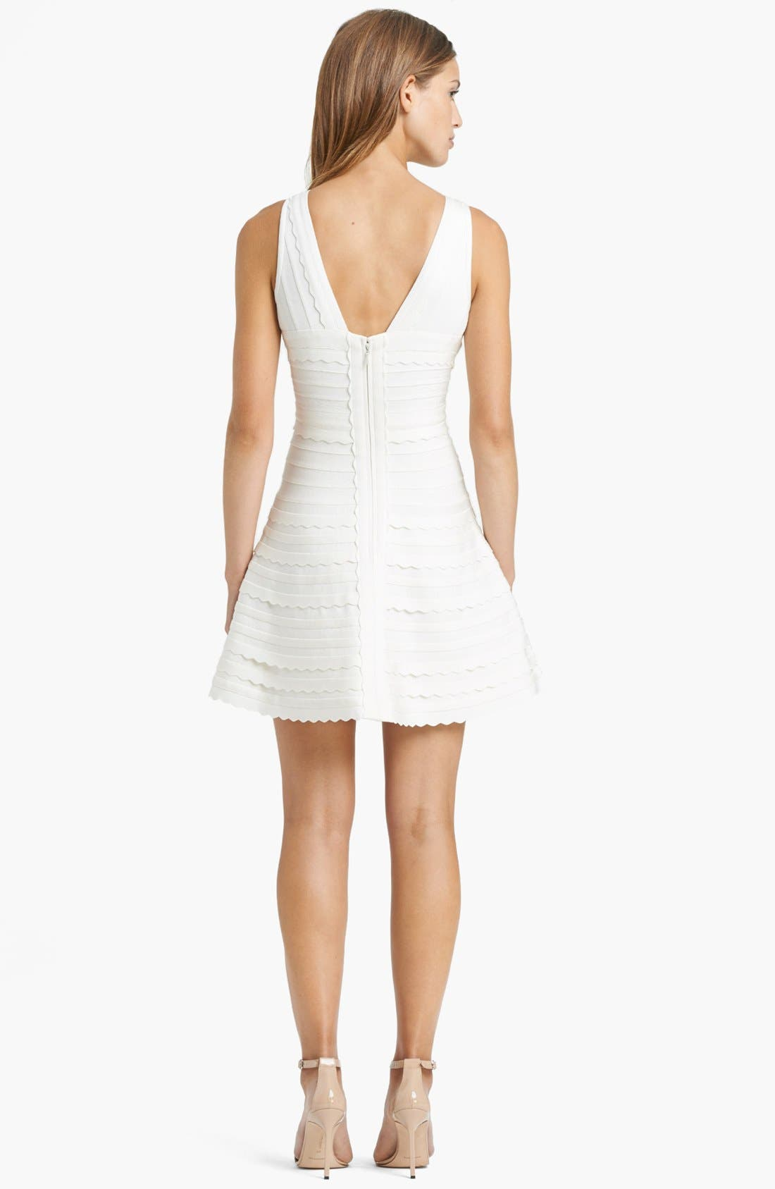 Alternate Image 2  - Herve Leger Scallop Detail Dress