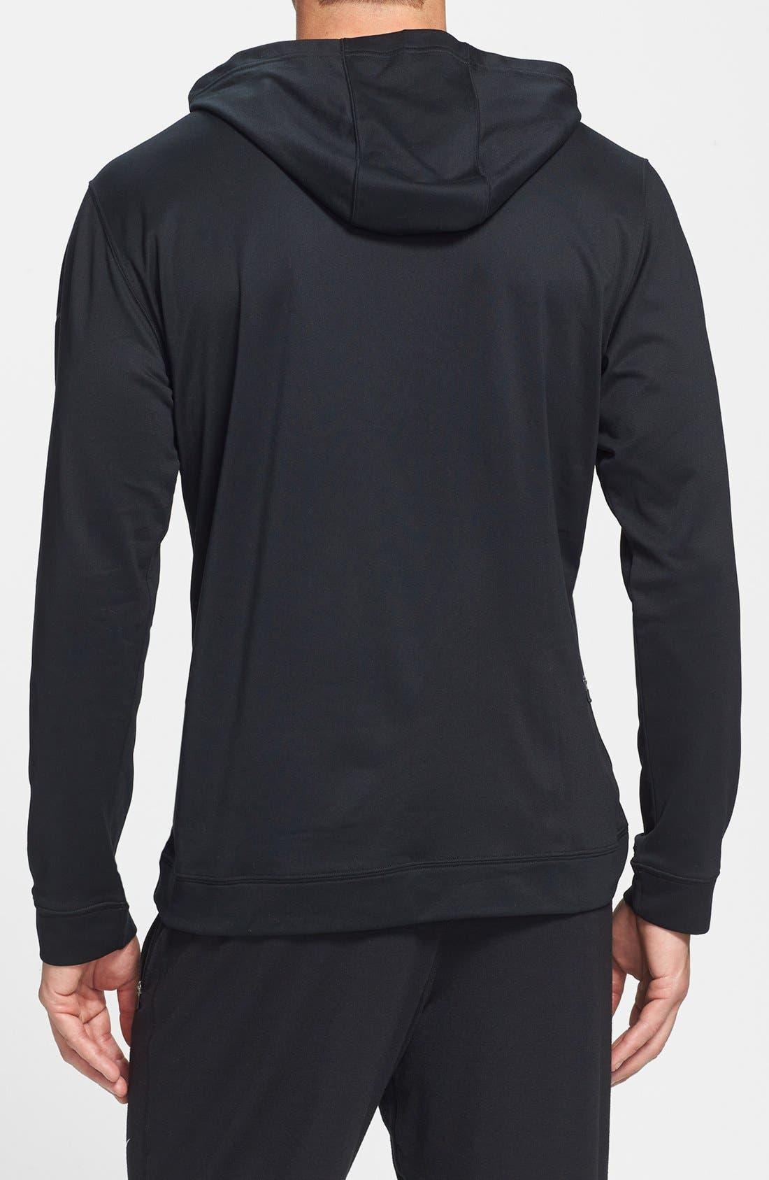 Alternate Image 2  - Nike Half Zip Dri-FIT Hoodie