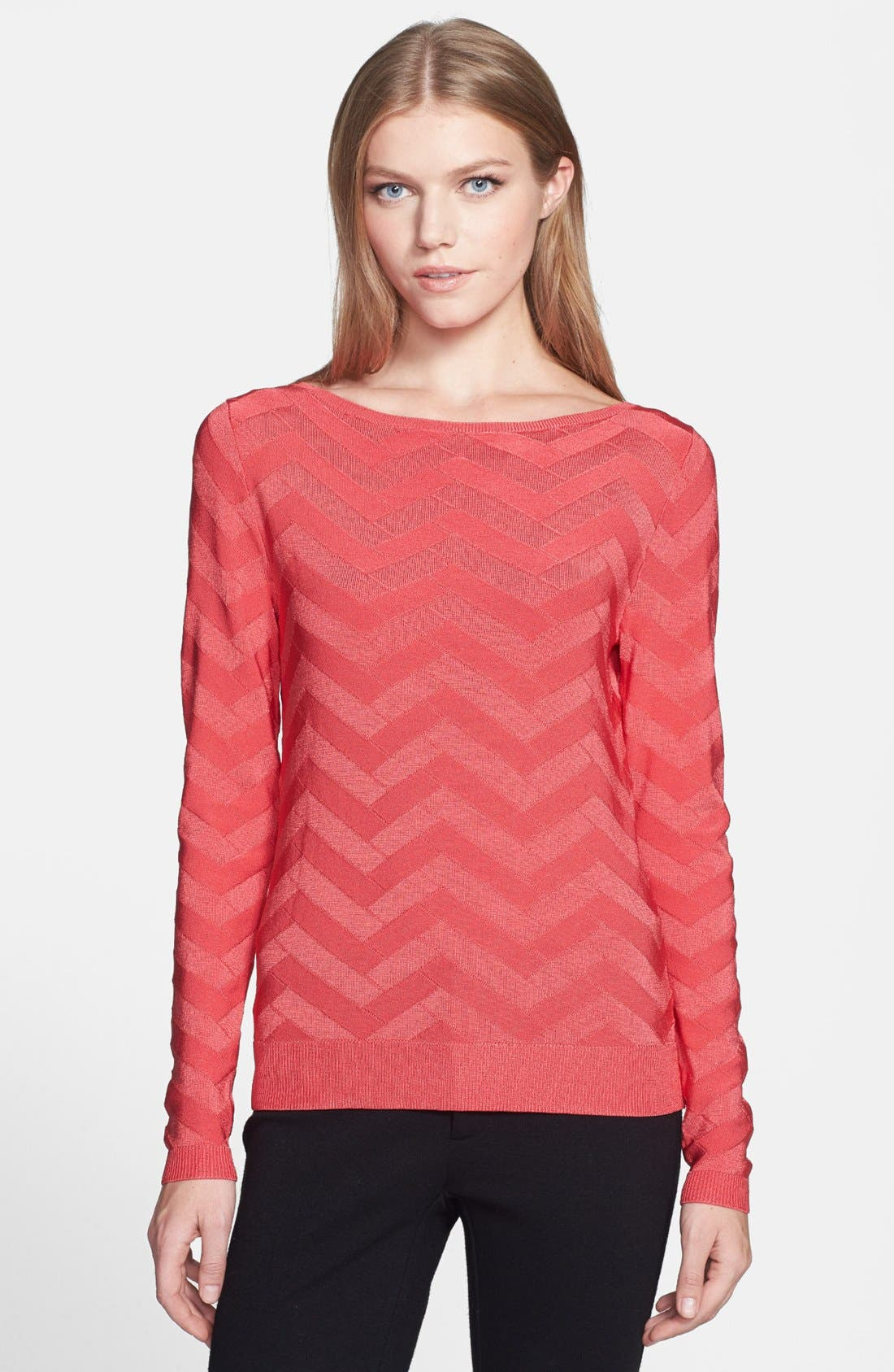 Alternate Image 1 Selected - Classiques Entier® 'Rayana' Chevron Pullover Sweater