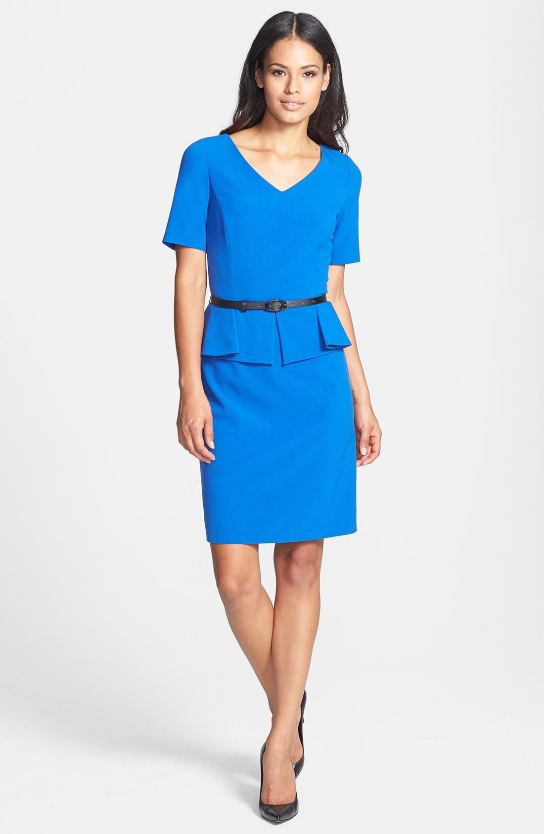 Alternate Image 2  - Tahari Stretch Peplum Sheath Dress