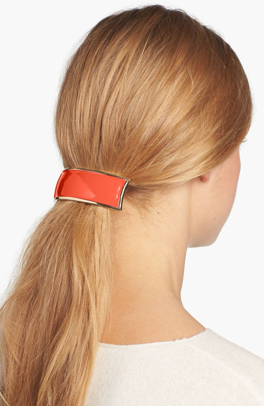 Main Image - L. Erickson 'Volume' Enamel Rectangle Barrette