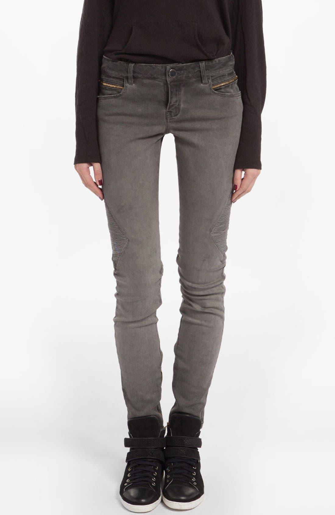 Alternate Image 1 Selected - maje 'Diabolo' Skinny Jeans (Charcoal Grey)