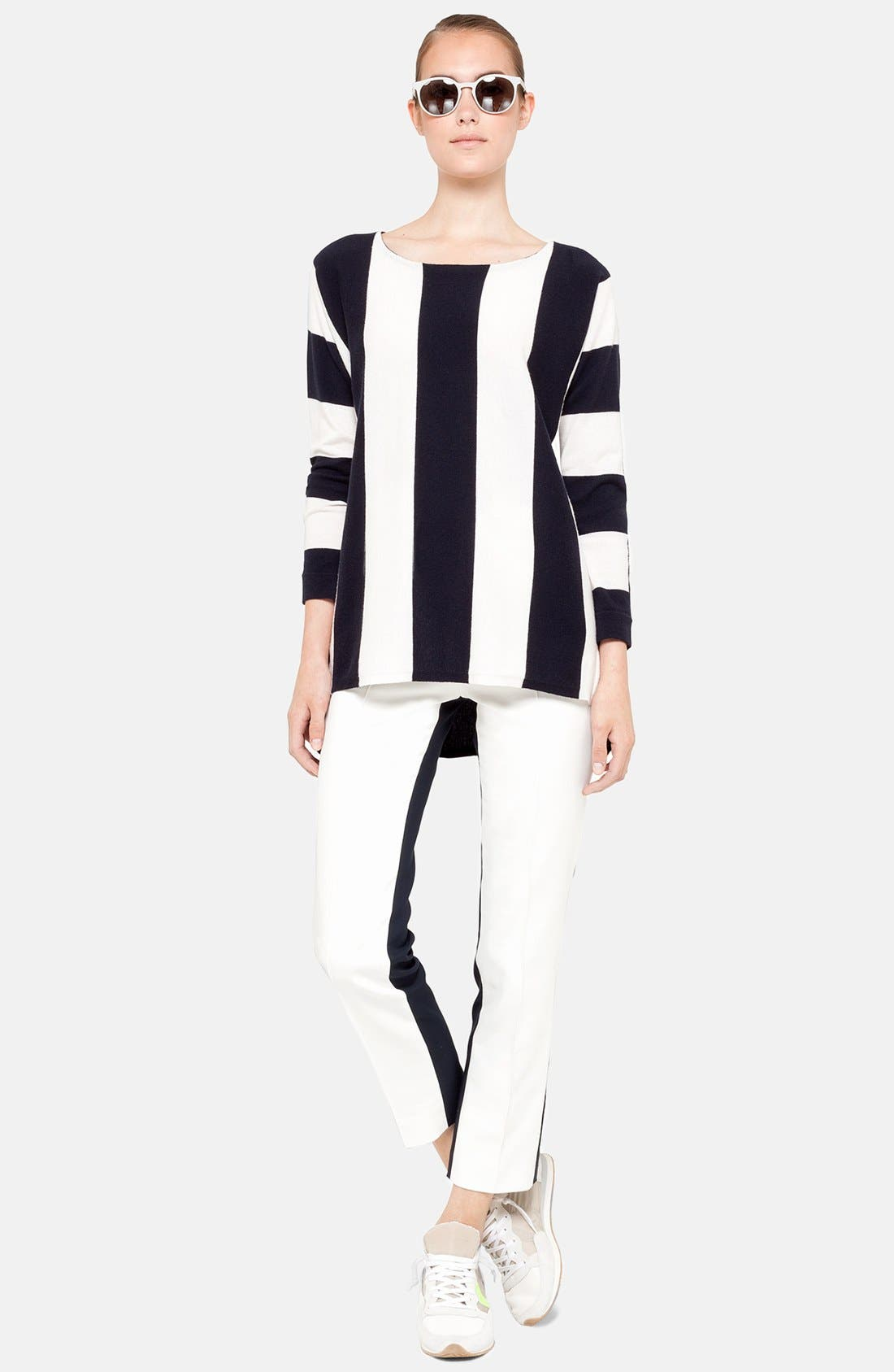 Alternate Image 3  - Akris punto Stripe Knit Tunic Sweater