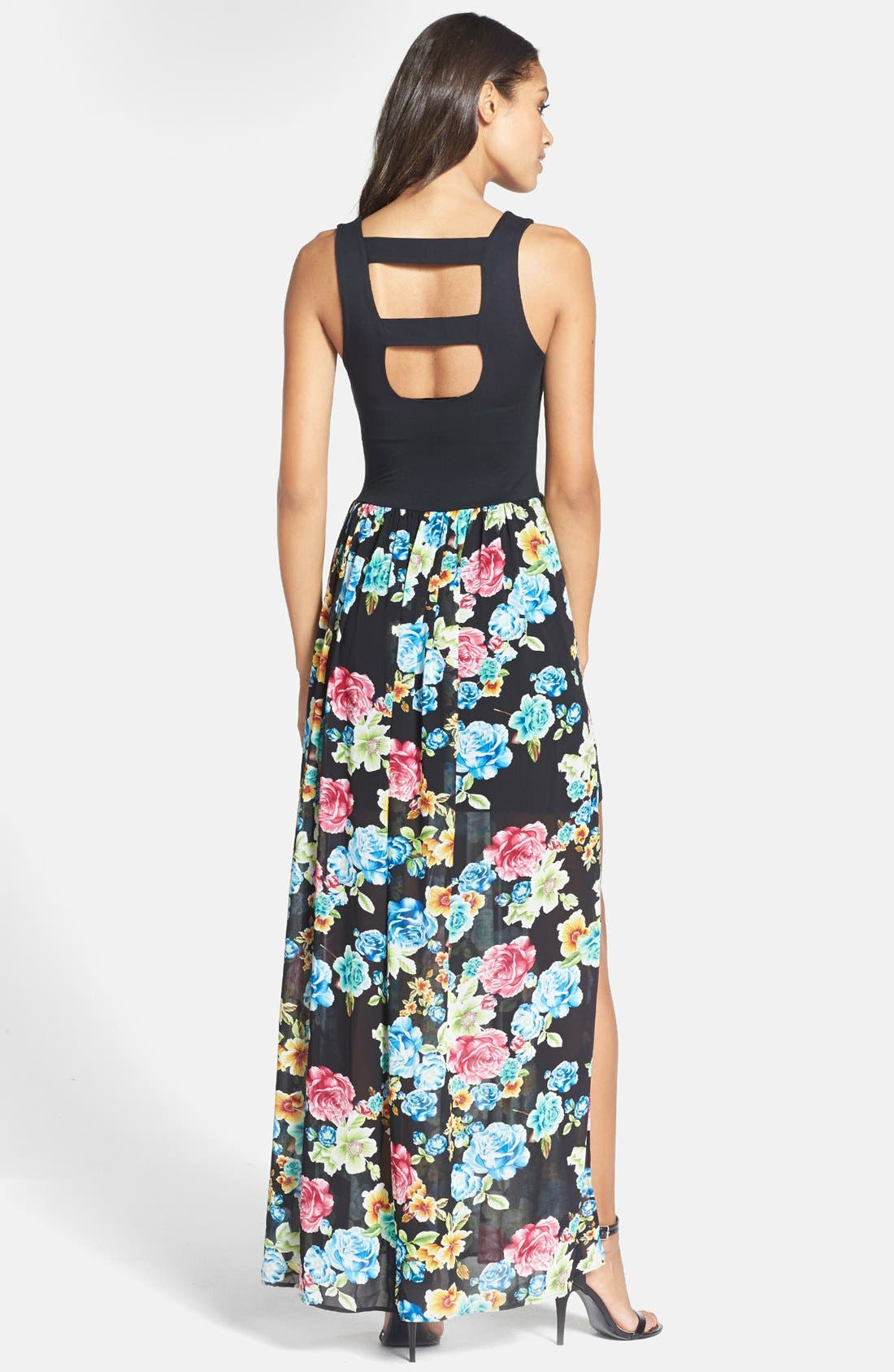 Alternate Image 2  - Felicity & Coco Knit Bodice Floral Maxi Dress (Nordstrom Exclusive) (Regular & Petite)