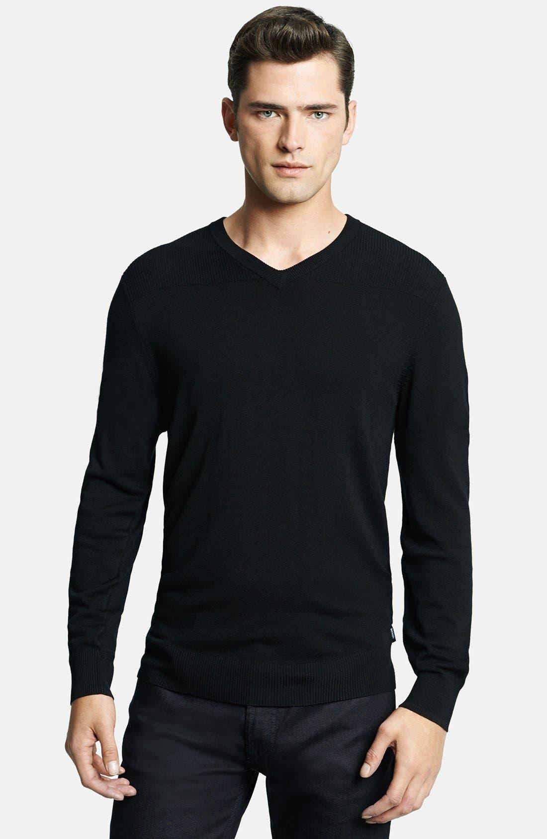 Alternate Image 1 Selected - Armani Collezioni V-Neck Sweater