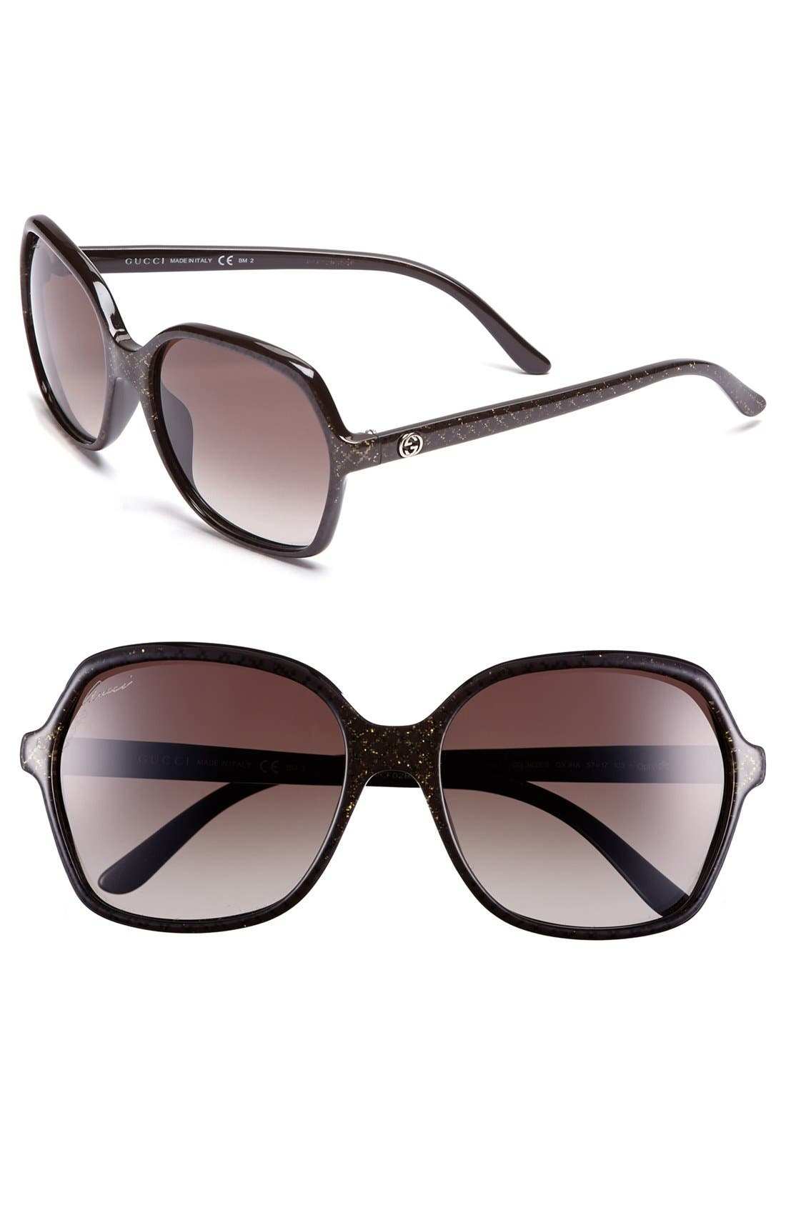 Alternate Image 1 Selected - Gucci 'Basic' 57mm Sunglasses