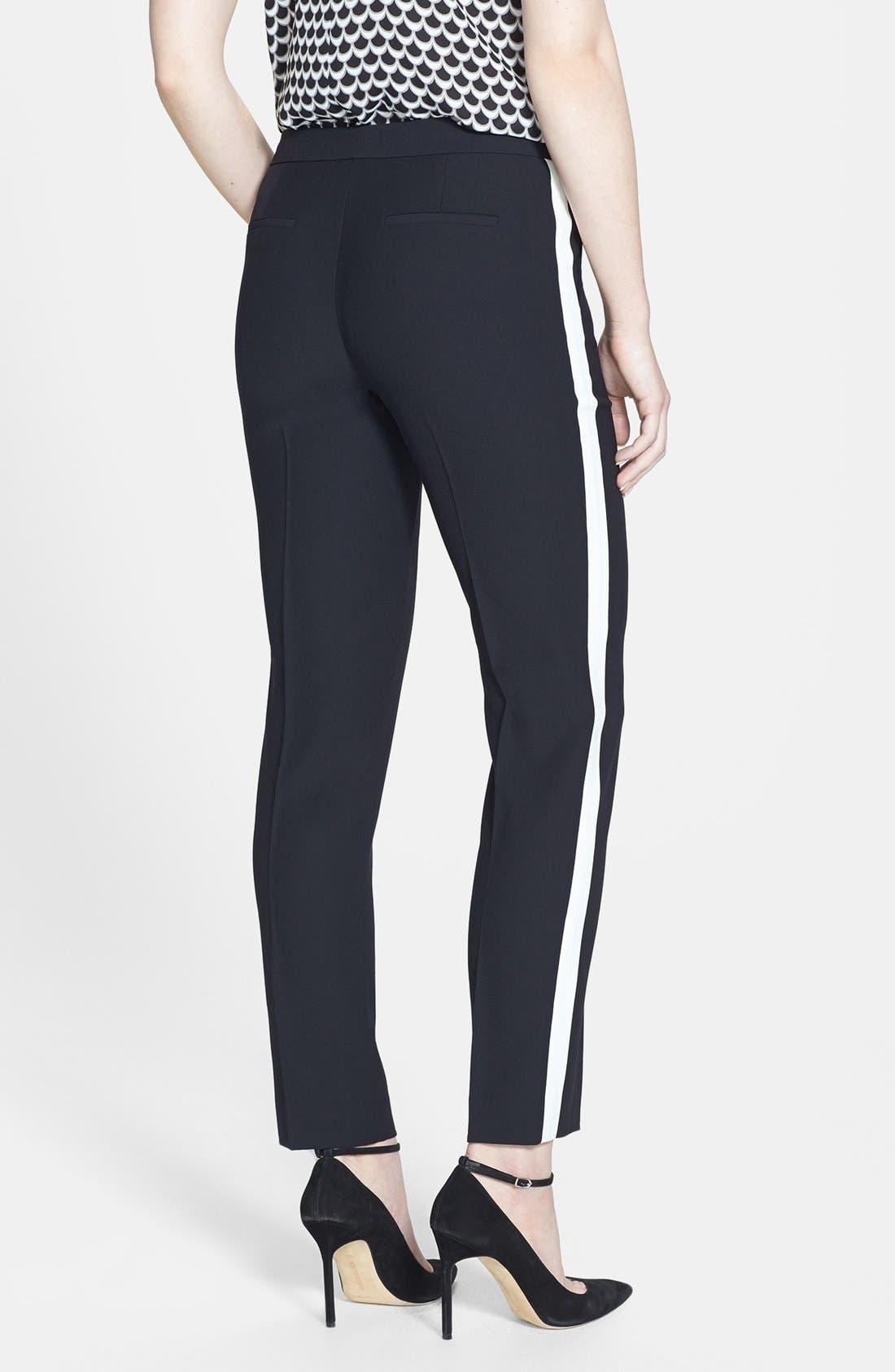 Alternate Image 2  - Halogen® 'Quinn' Tuxedo Stripe Crepe Pants