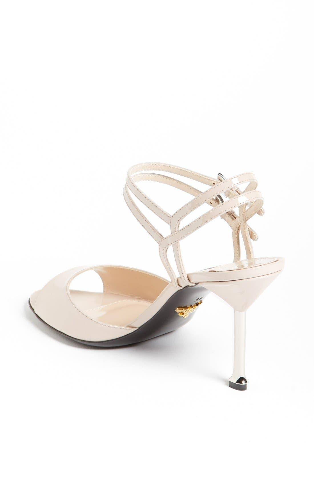 Alternate Image 2  - Prada Double Ankle Buckle Metal Heel Sandal