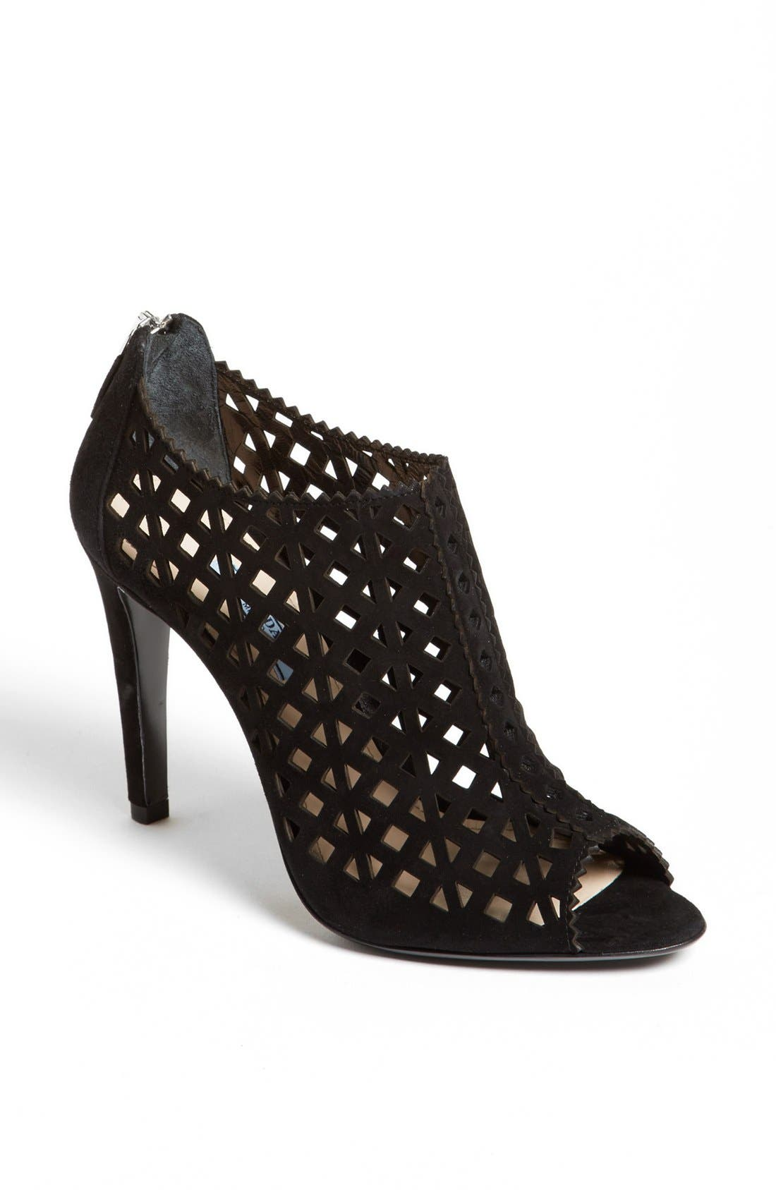 Alternate Image 1 Selected - Prada Laser Cut Open Toe Bootie