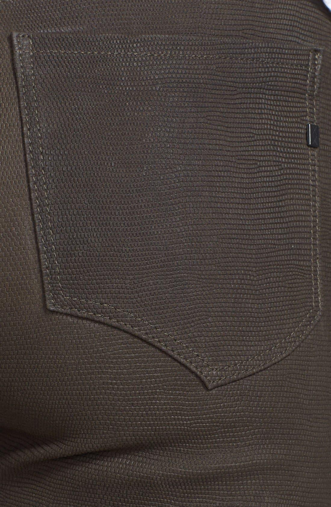 Alternate Image 3  - Genetic 'Shya' Suede Cigarette Jeans (Deep Olive)