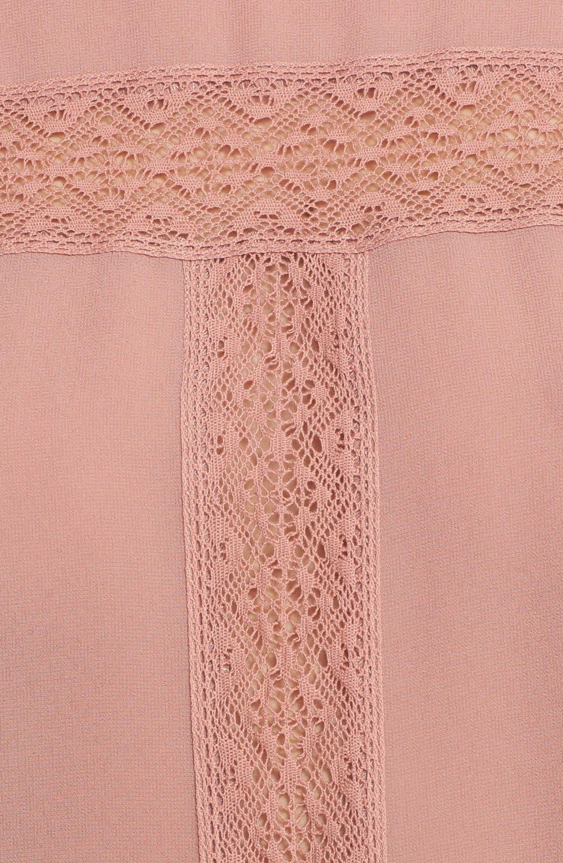 Alternate Image 3  - Leith Victorian Lace Trim Chiffon Blouse