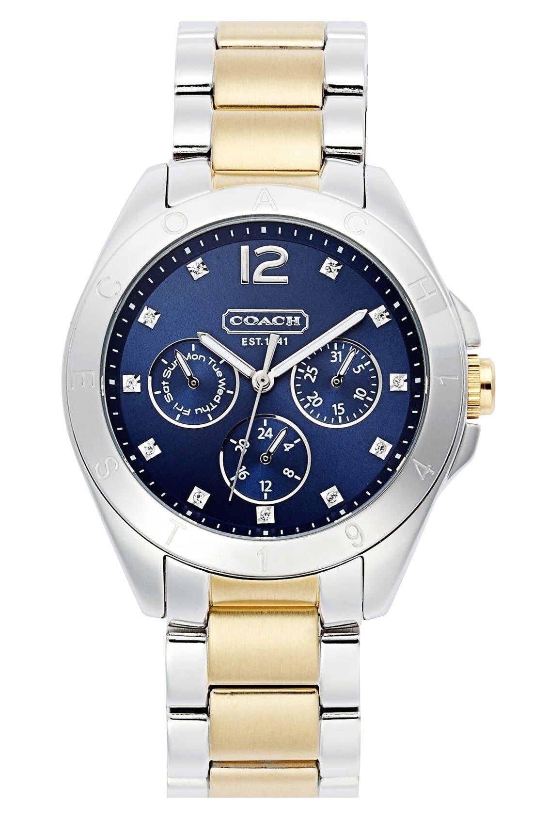 Main Image - COACH 'Tristen' Multi Eye Dial Bracelet Watch, 36mm