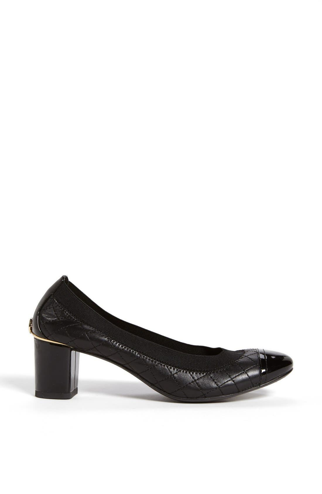 Alternate Image 3  - Tory Burch 'Carrie' Quilted Leather Cap Toe Pump