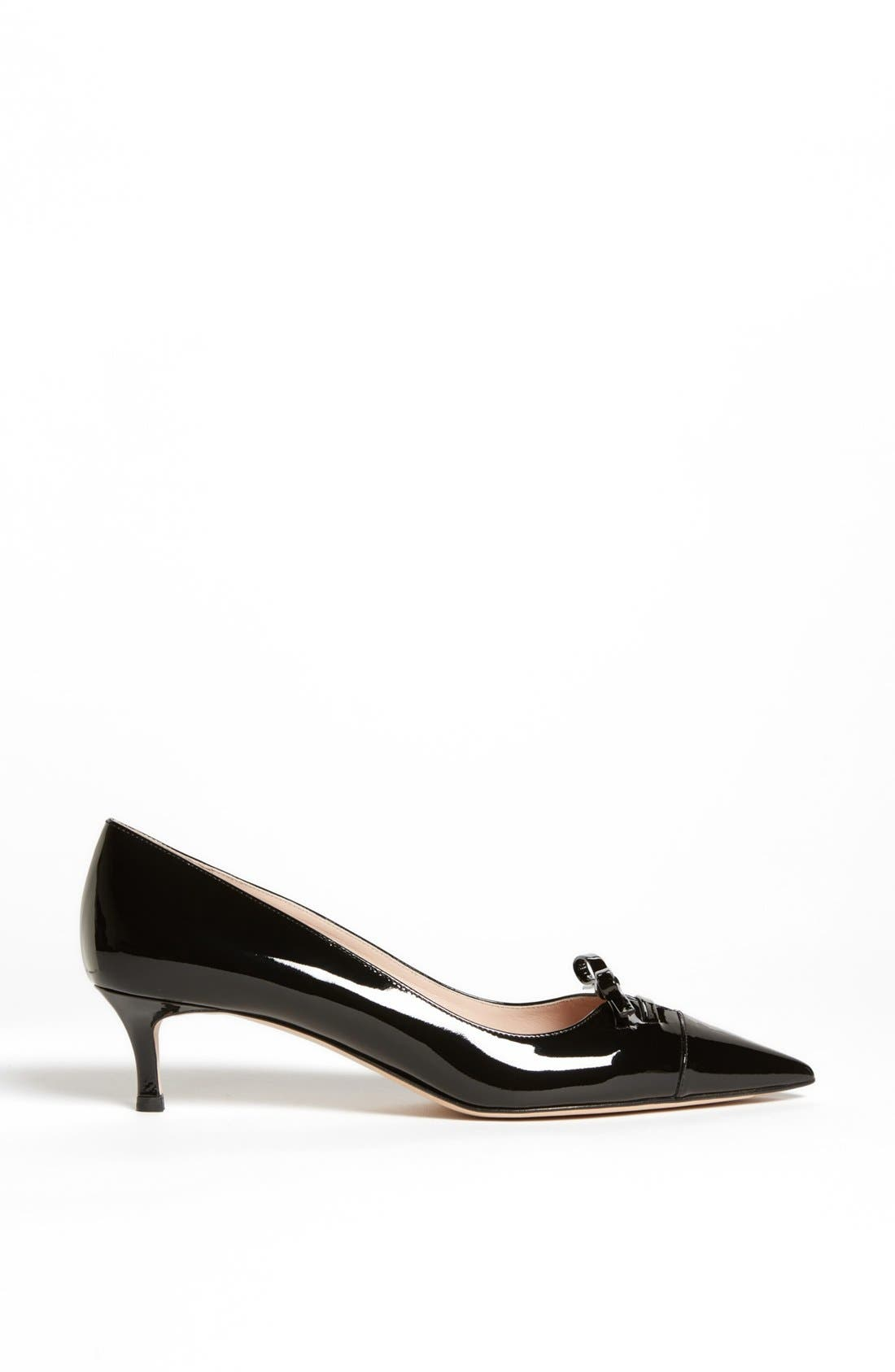 Alternate Image 4  - Miu Miu Pointed Toe Bow Pump