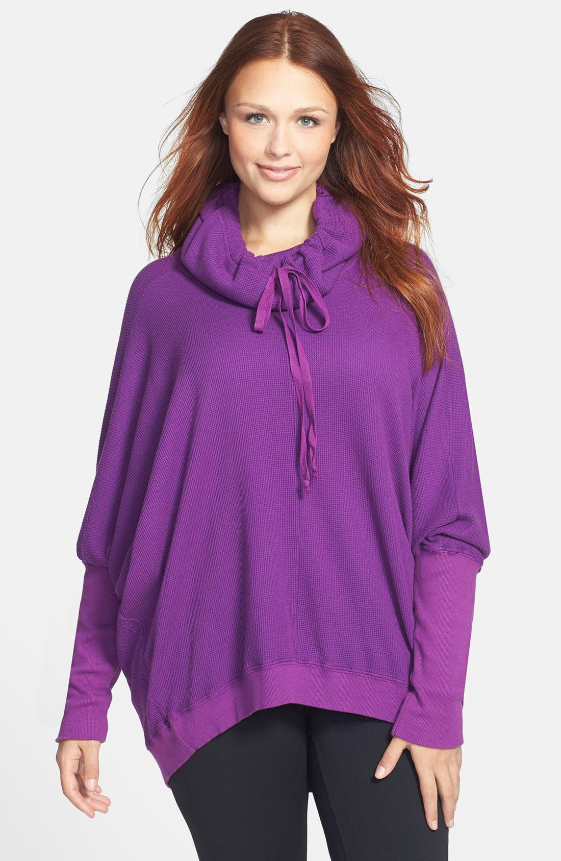 Alternate Image 1 Selected - Pink Lotus Thermal Pullover (Plus Size)