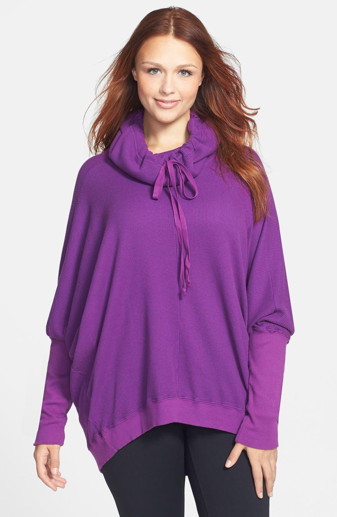 Main Image - Pink Lotus Thermal Pullover (Plus Size)