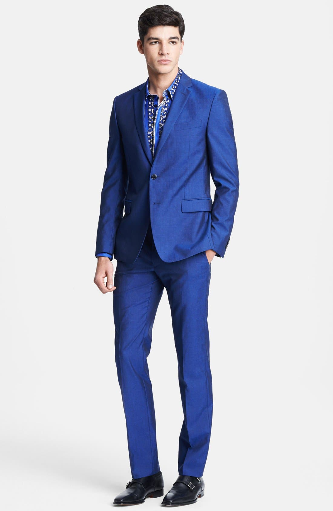 Alternate Image 1 Selected - Versace Trend Fit Wool & Silk Suit