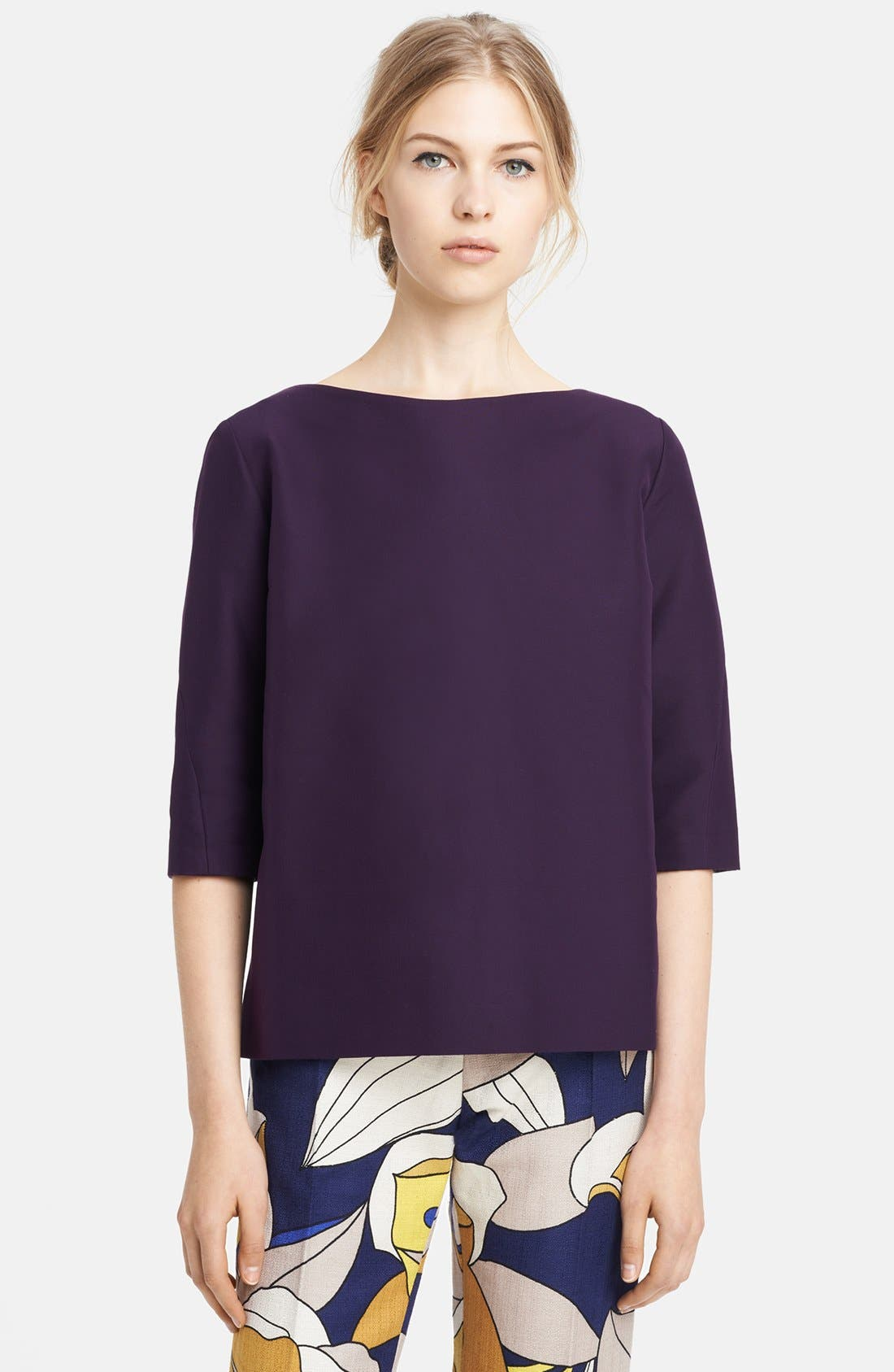 Alternate Image 1 Selected - Marni Boatneck Cotton Top
