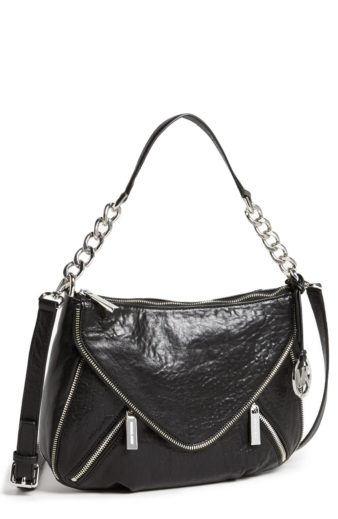 Alternate Image 1 Selected - MICHAEL Michael Kors 'Odette - Medium' Leather Crossbody Bag
