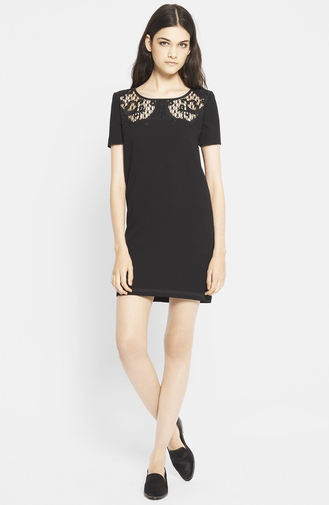 Alternate Image 1 Selected - The Kooples Embroidered Yoke Shift Dress