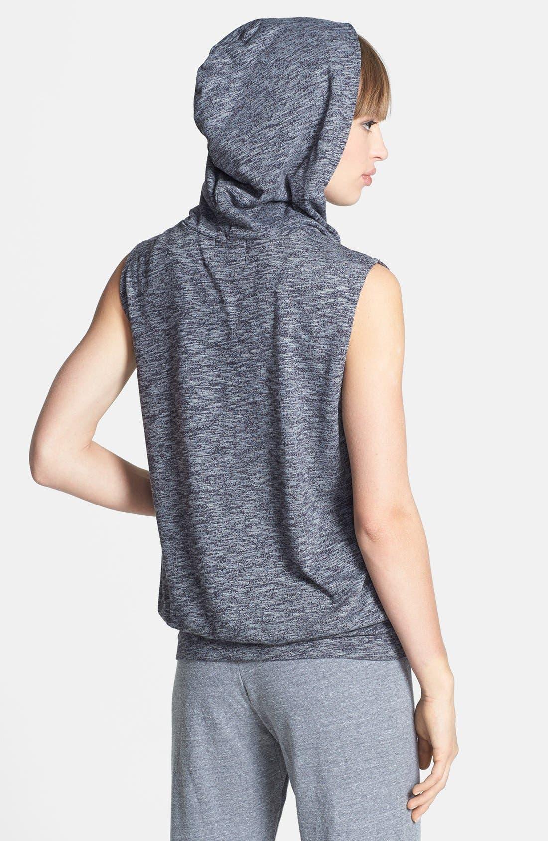 Alternate Image 2  - Monrow 'Cosmic' Vintage Fleece Sleeveless Hoodie