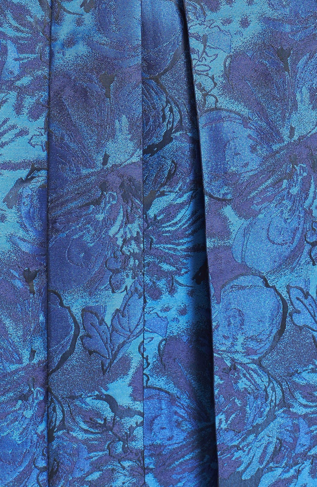 Alternate Image 4  - Tahari Pleat Jacquard Fit & Flare Dress