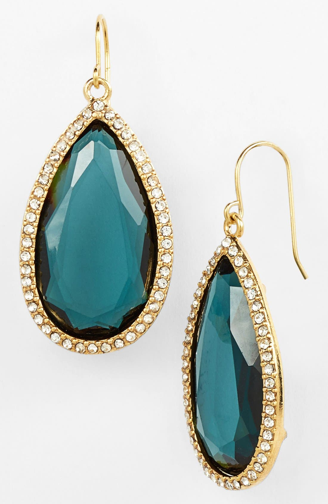 Alternate Image 1 Selected - Lauren Ralph Lauren Pavé Stone Large Drop Earrings