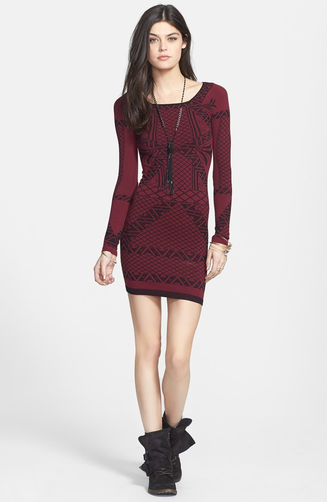 Main Image - Free People 'Angles of Intarsia' Body-Con Dress