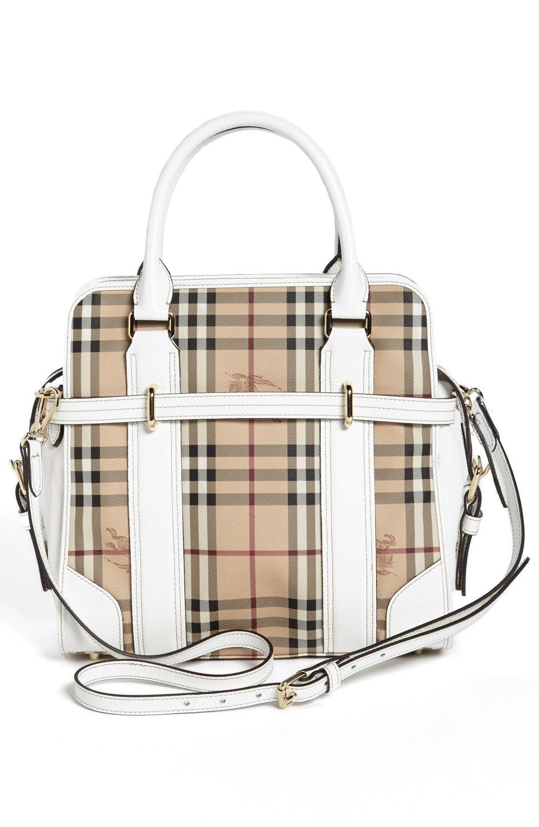 Alternate Image 4  - Burberry 'Haymarket Check - Minford' Satchel