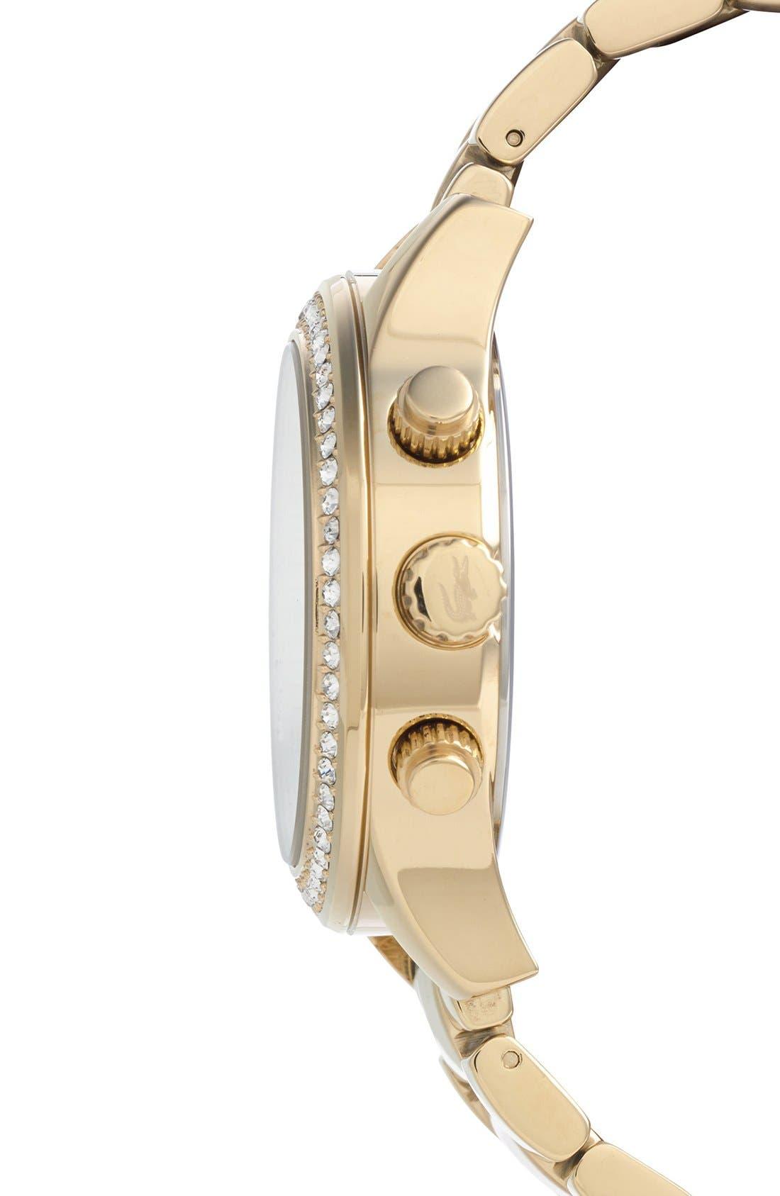 Alternate Image 3  - Lacoste Crystal Bezel Guilloche Dial Bracelet Watch, 40mm
