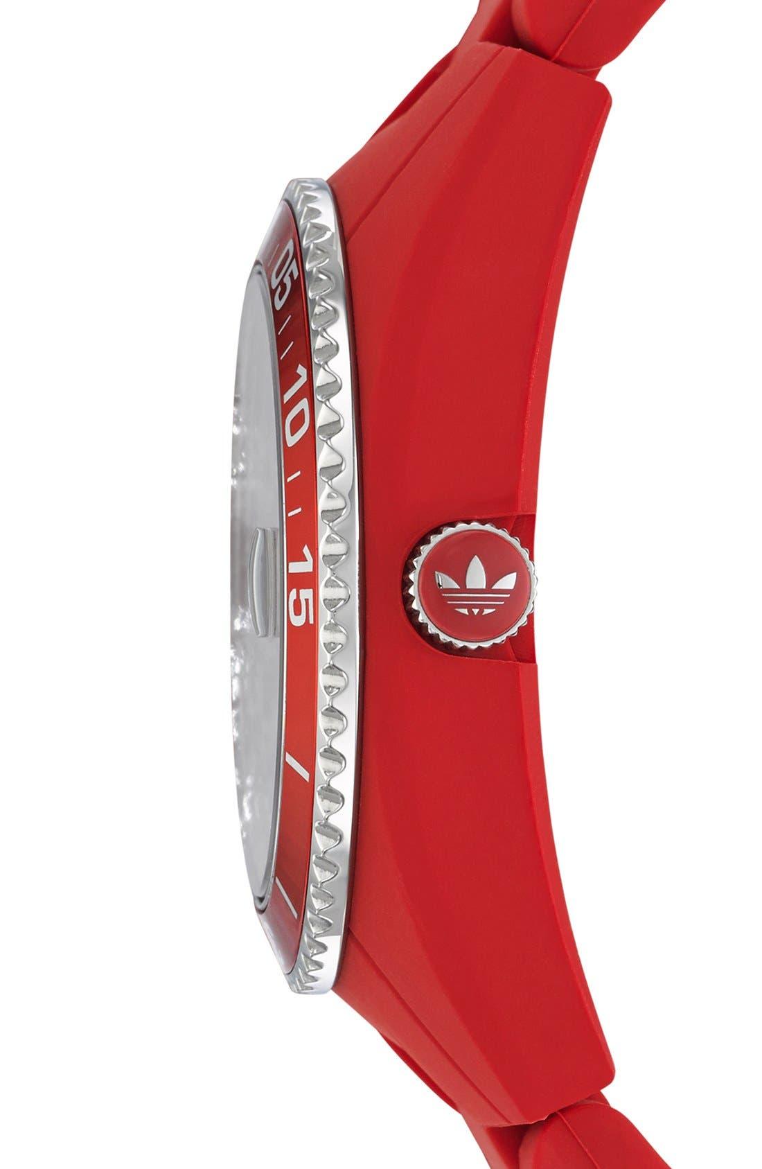 Alternate Image 2  - adidas Originals 'Brisbane' Silicone Bracelet Watch, 42mm