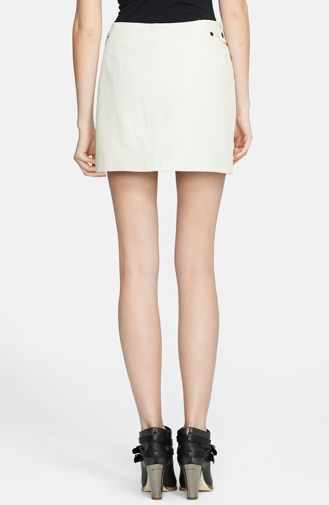 Alternate Image 2  - rag & bone 'Hudson' Leather Miniskirt