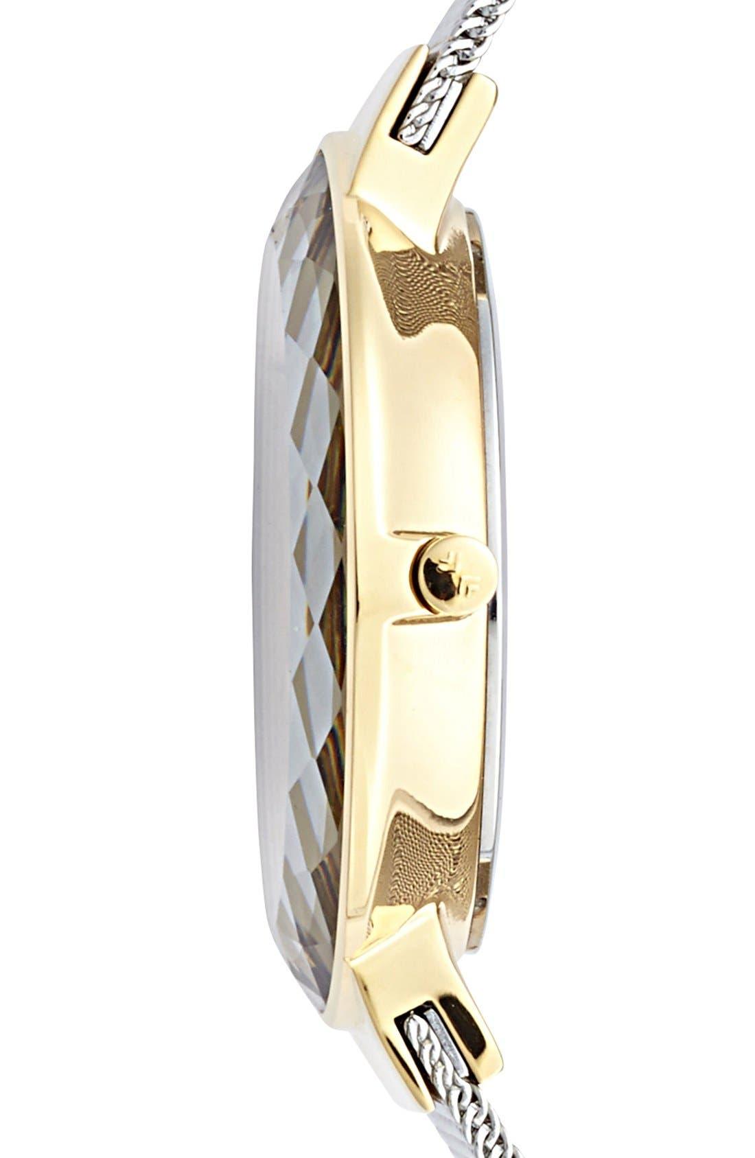 Alternate Image 3  - Skagen 'Leonora' Large Faceted Glass Bezel Watch, 34mm