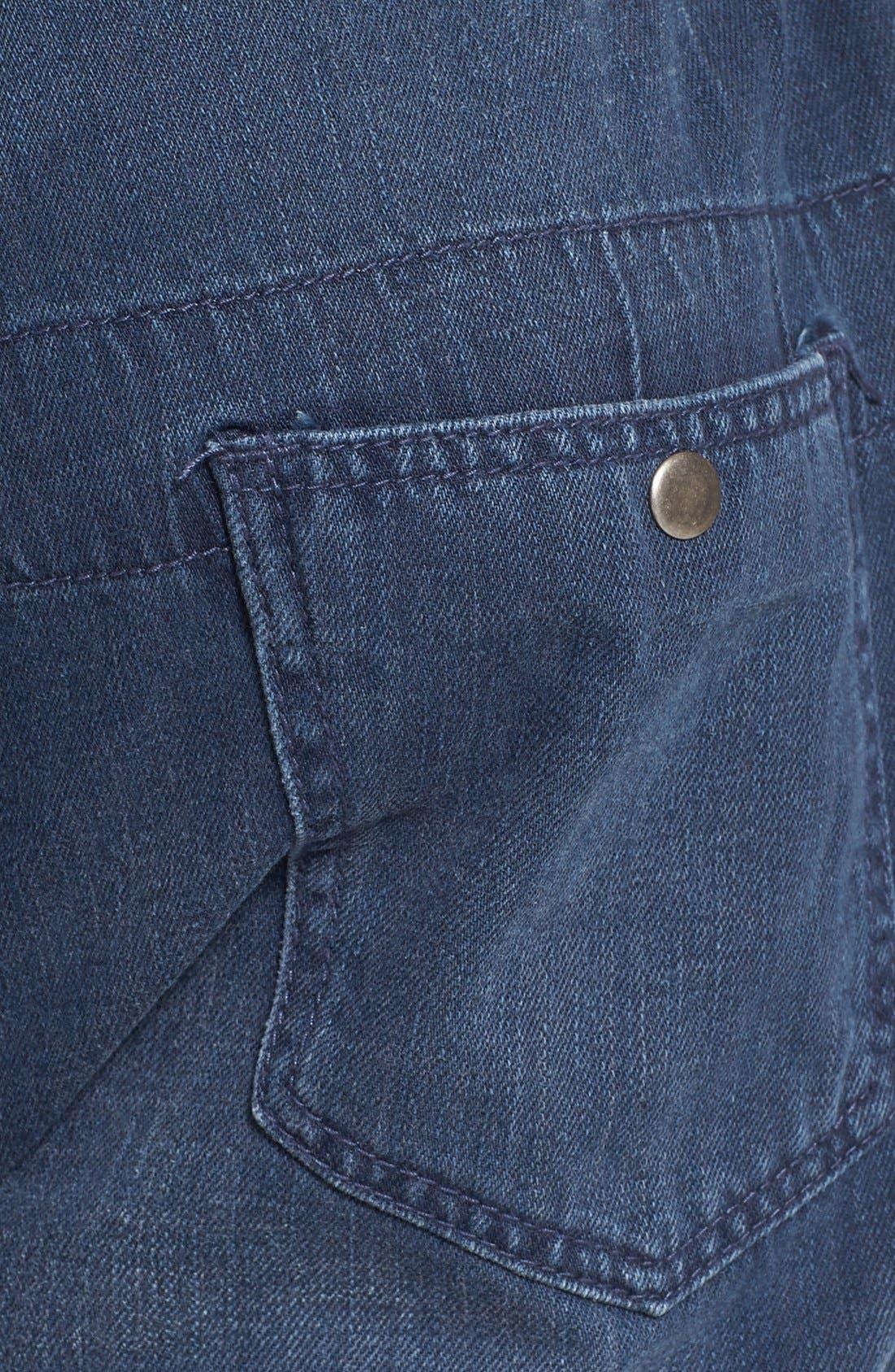 Alternate Image 3  - Topman Denim Jogger Sweatpants