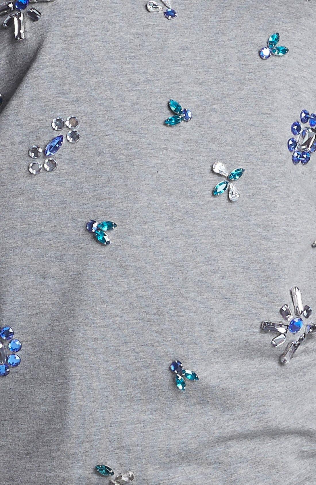 Alternate Image 3  - Two by Vince Camuto Jeweled Baseball Sweatshirt