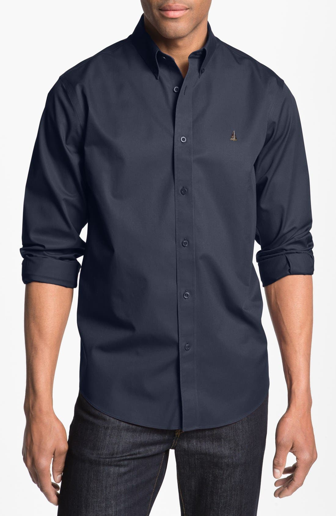 Main Image - Nordstrom Smartcare™ Traditional Fit Twill Boat Shirt