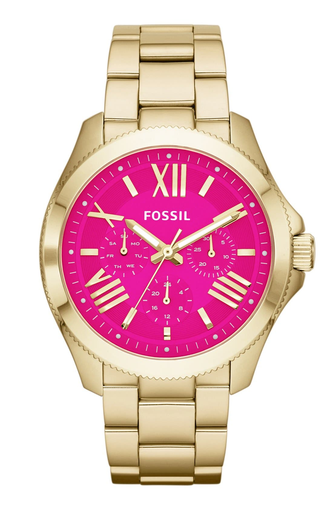 Main Image - Fossil 'Cecile' Multifunction Bracelet Watch, 40mm