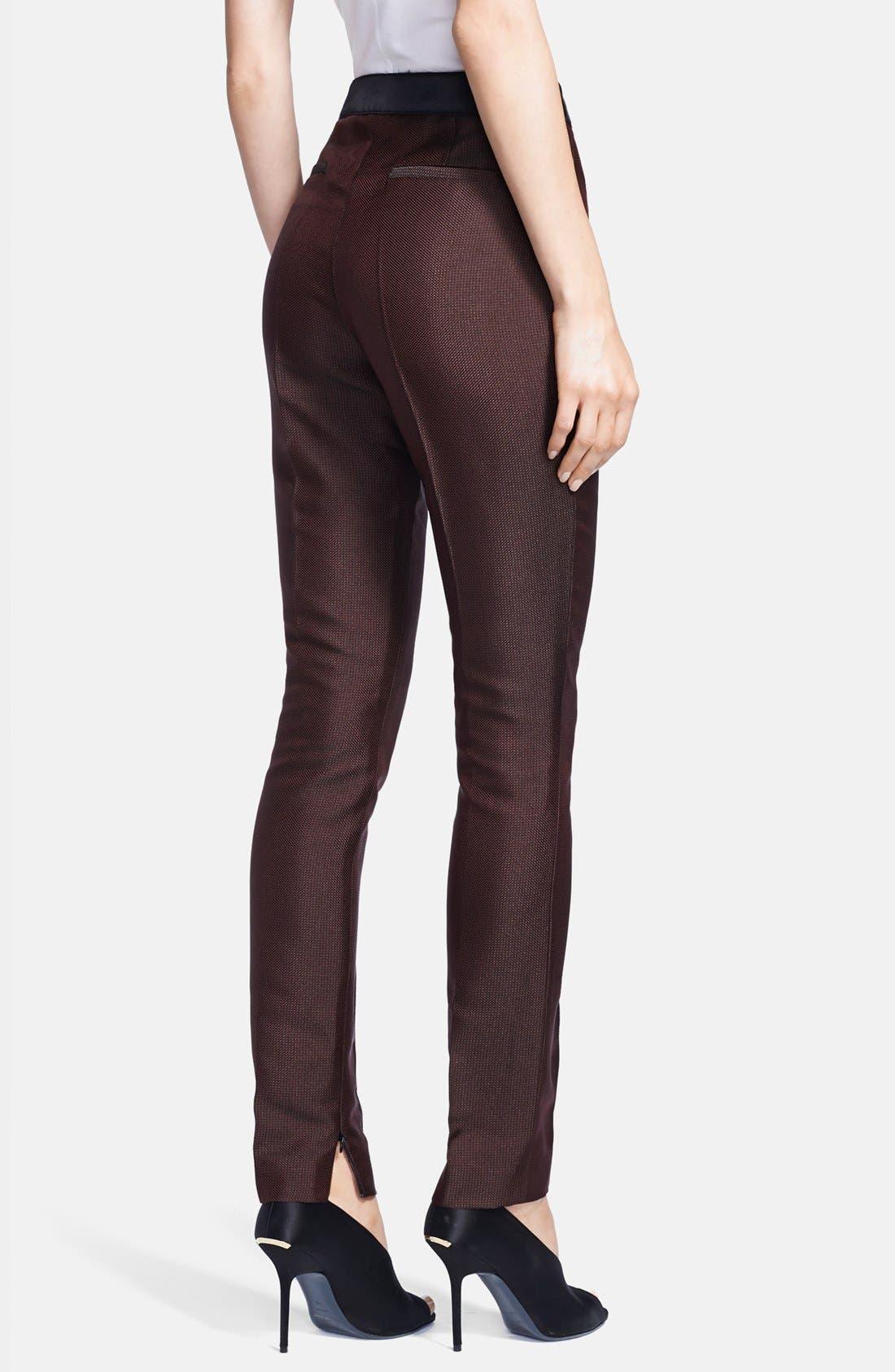 Alternate Image 2  - Burberry London Slim Ankle Zip Pants