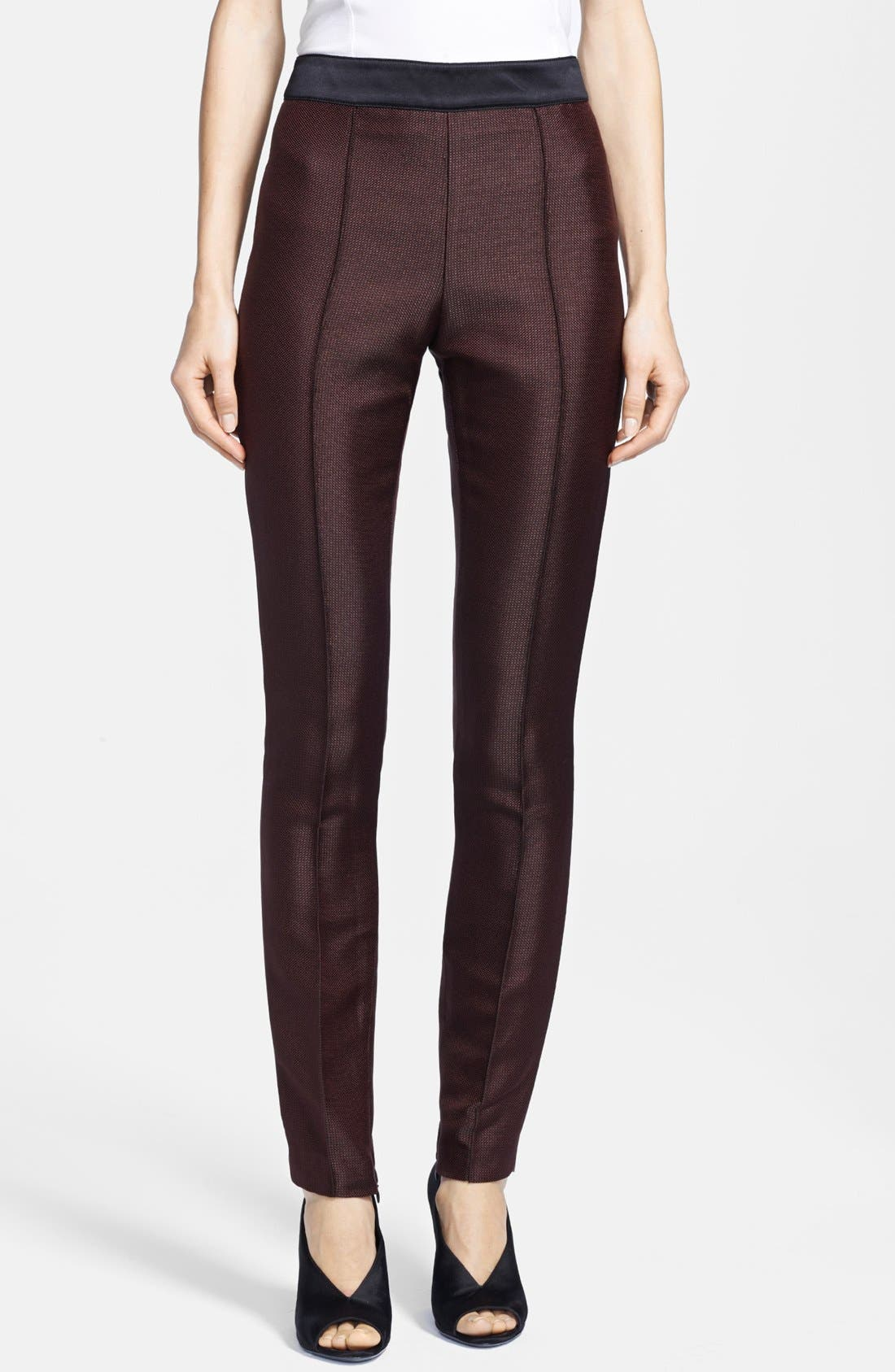 Alternate Image 1 Selected - Burberry London Slim Ankle Zip Pants